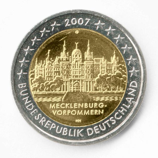 2 euro geld schwerin münzen
