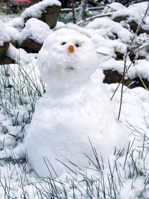 frühlingstagundnachtgleiche winterende schneemann
