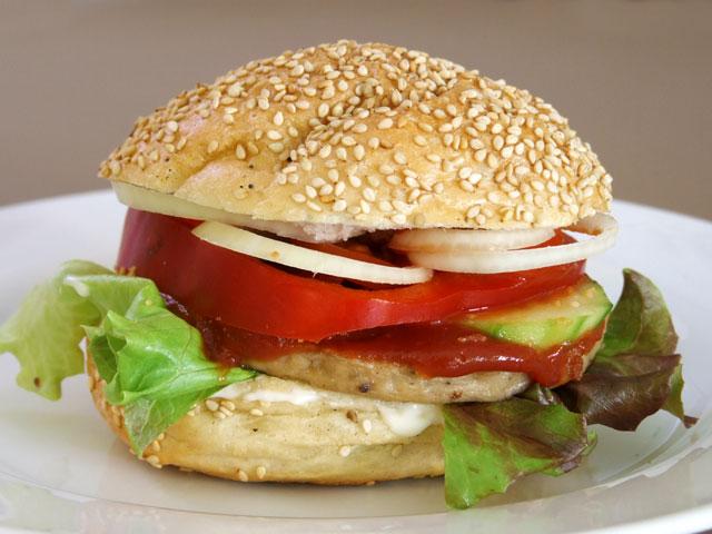 burger paprika gurken zwiebeln