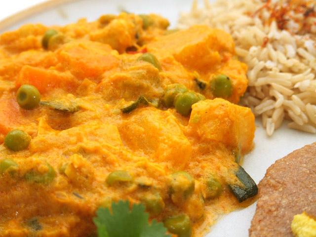 möhren reis essen indisch