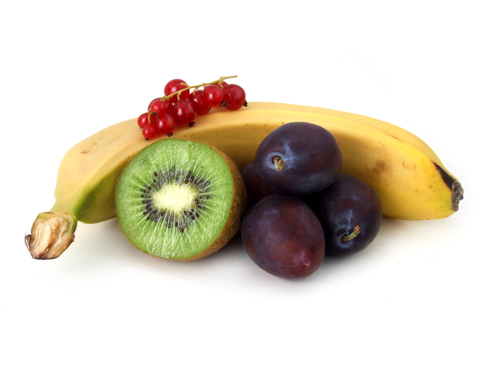 kiwi banane pflaumen