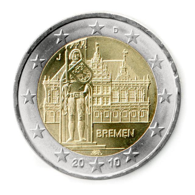 2 Euro Münze Bremen 2010 Wert