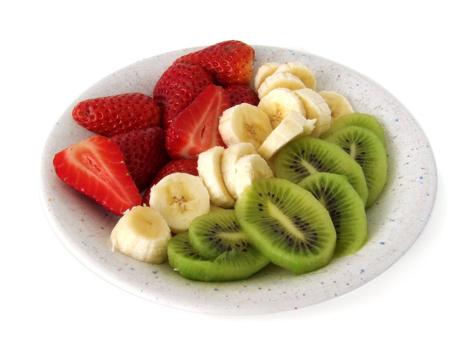 kiwi erdbeeren banane