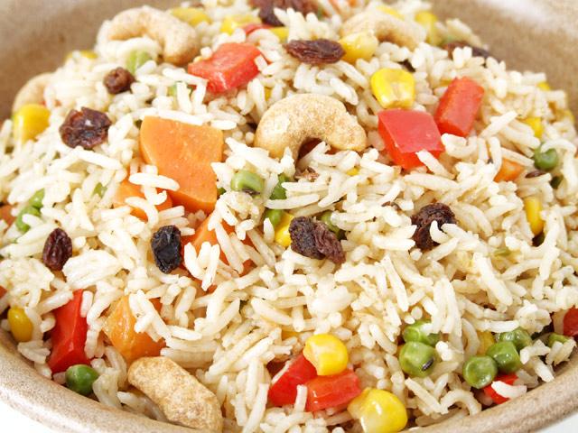 Indisches Gemüse mit Reis