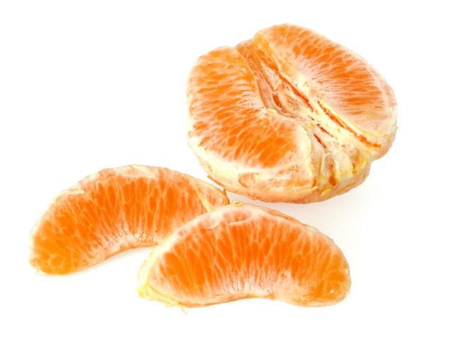Orange geschält