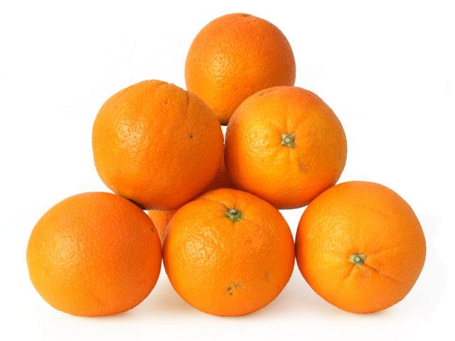 Orangen-Stapel