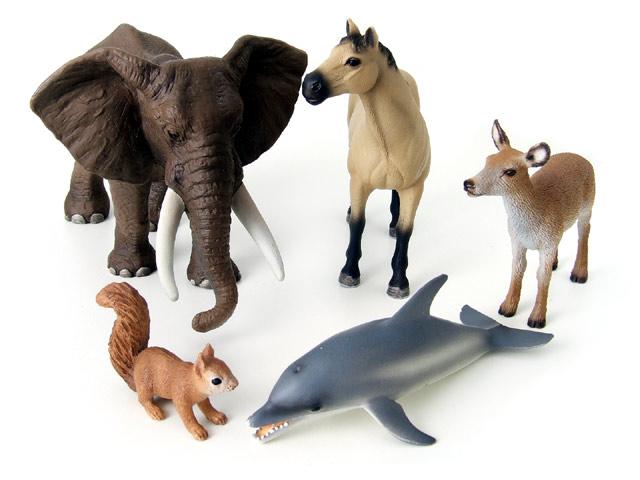 Schleich tiere afrikanischer elefant achal tekkiner rothirsch kuh