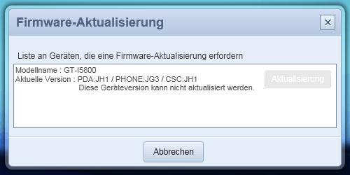 Samsung Galaxy 3 i5800 - kein Android 2.2 (froyo) Update