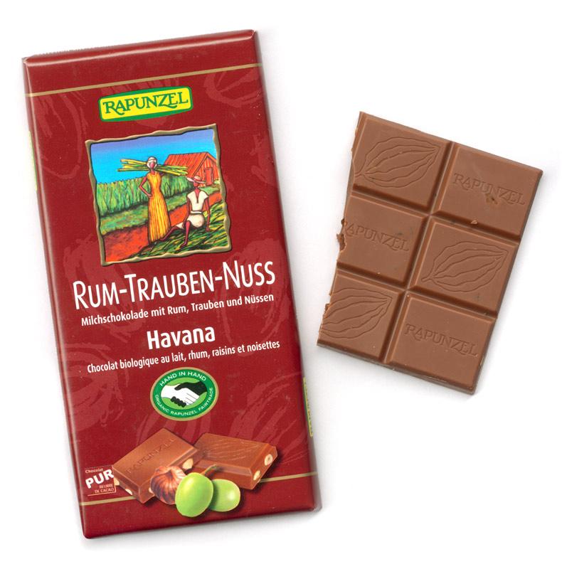 rum schokolade trauben nüsse