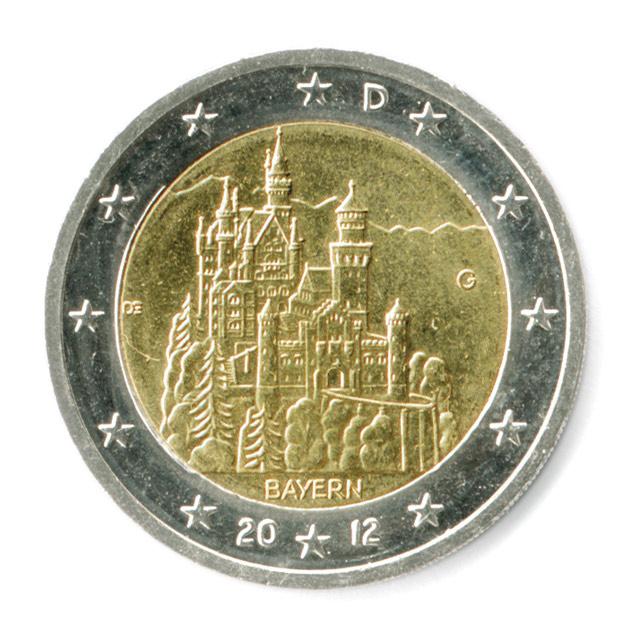 2 Euro Bayern Schloß Neuschwanstein Putzlowitscher Zeitung