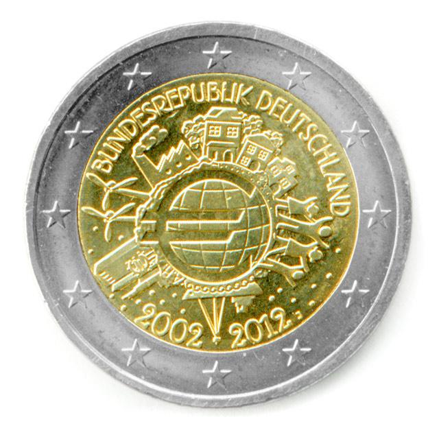 2 Euro Gedenkmünze 10 Jahre Euro Bargeld Putzlowitscher Zeitung