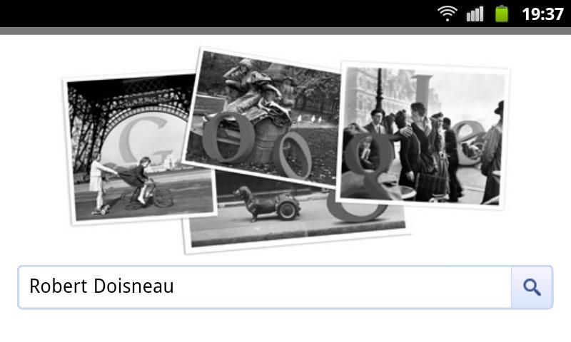 Robert Doisneau - Google Doodle