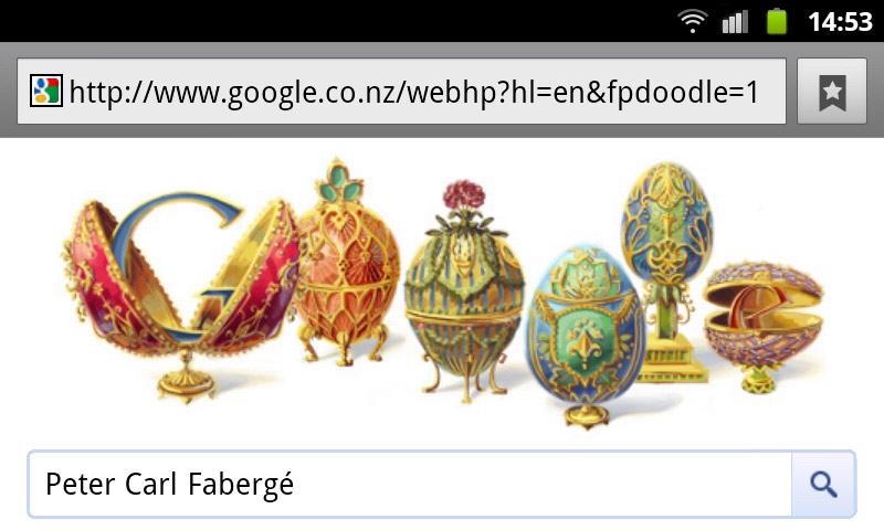 Peter Carl Fabergé Google Doodle