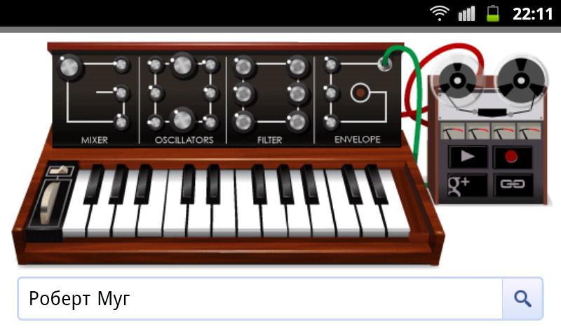 google-doodle robert moog