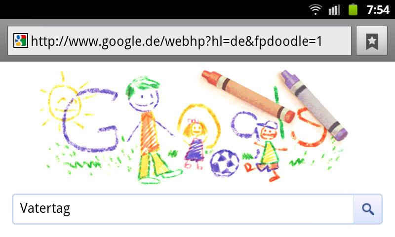 Vatertag 2012 – Google Doodle
