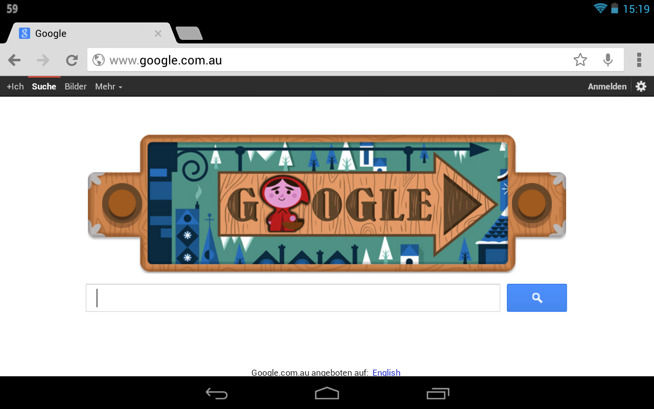 Grimms Märchen Google-Doodle (Desktop/Tablett)