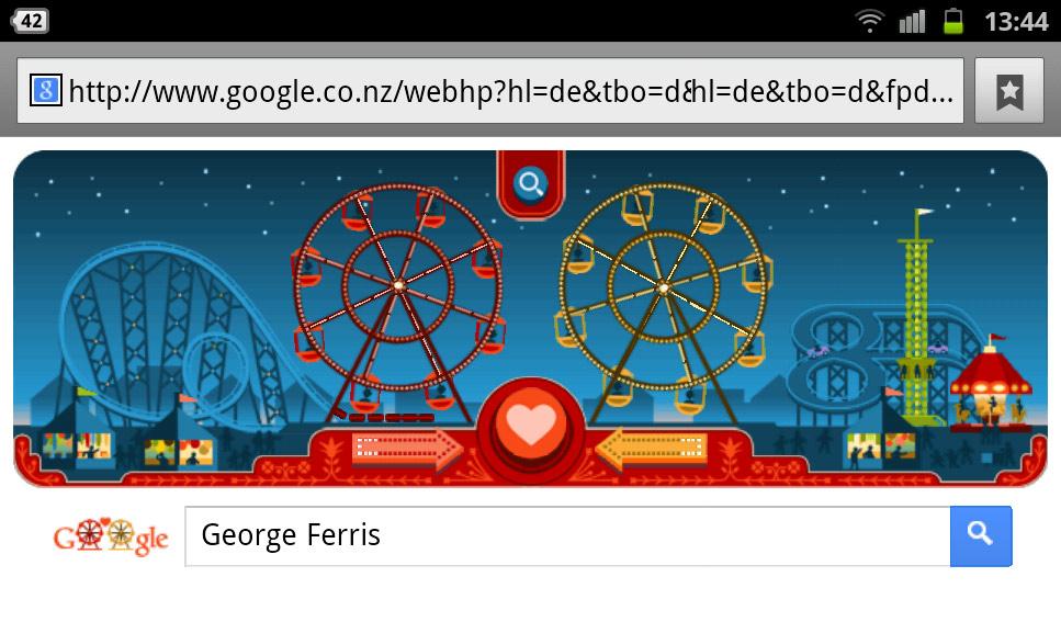 google-doodle george ferris riesenrad