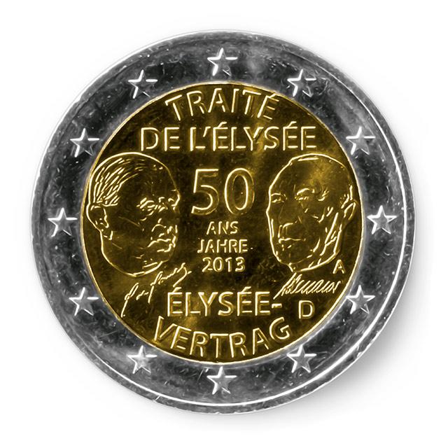 2 Euro Gedenkmünze 50 Jahre élysée Vertrag Putzlowitscher Zeitung