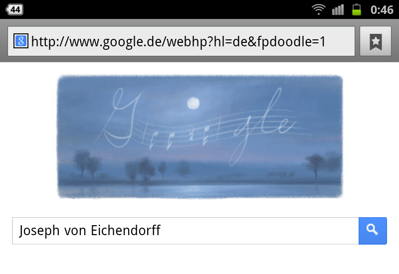 google-doodle joseph eichendorff