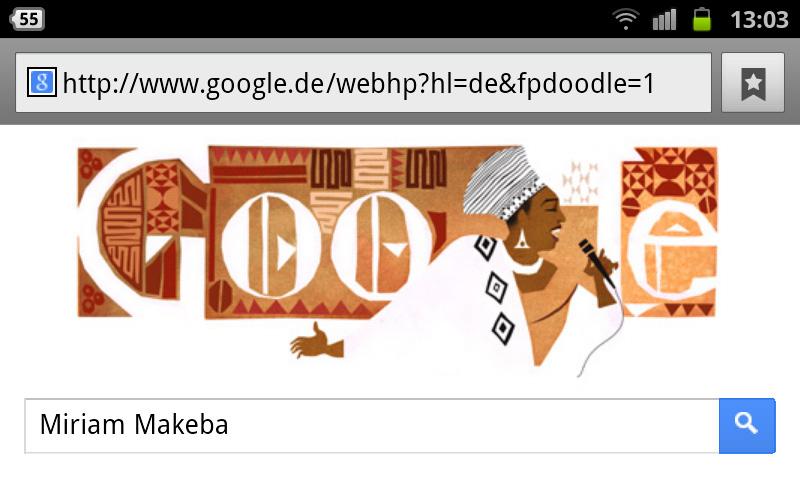 Miriam Makeba Google-Doodle