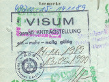 DDR Personalausweis mit West-Visum