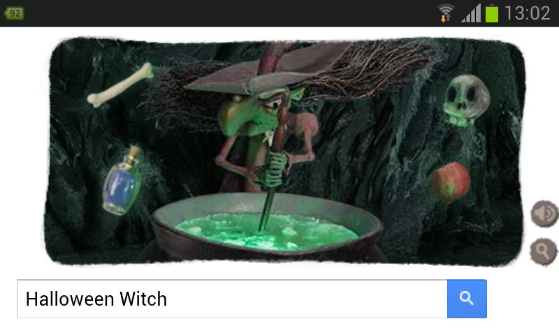 Google Doodle 2013 zu Halloween