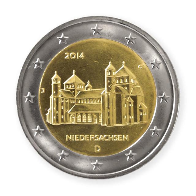 2 Euro Niedersachsen St Michaeliskirche Hildesheim