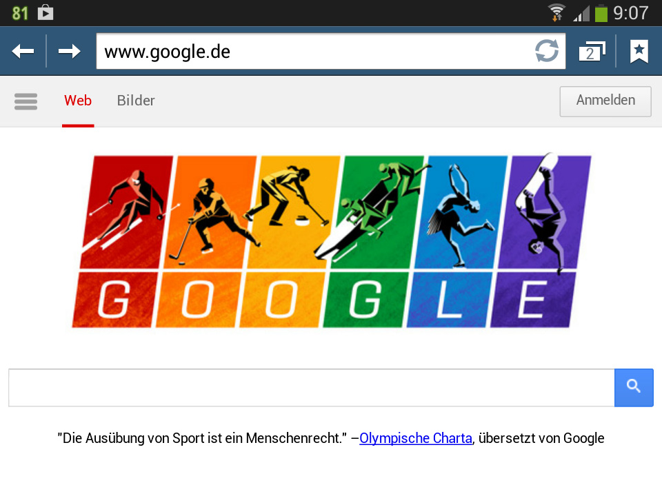 Olympische Charta - Google Doodle