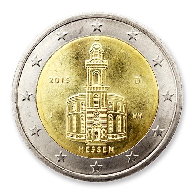 2 Euro Münze 2015 Hessen Wert Ausreise Info