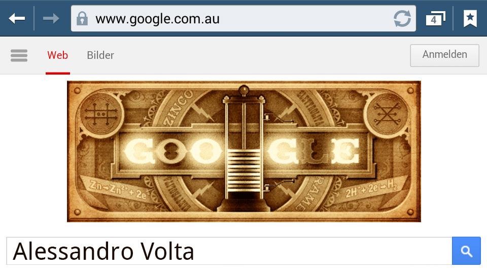 Alessandro Volta (Google Doodle)
