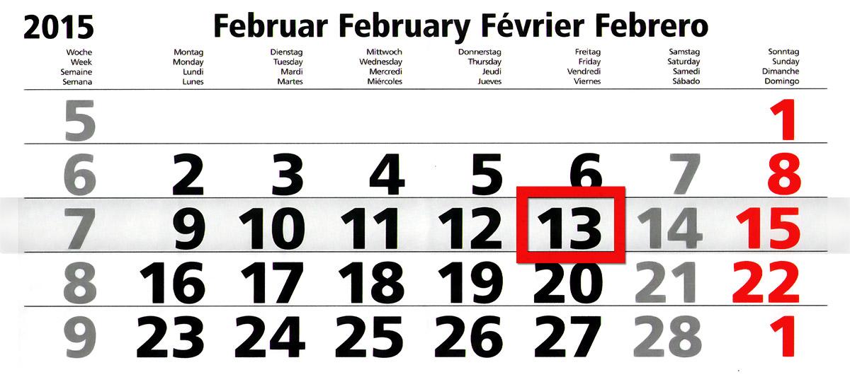 Freitag der 13. Februar 2015