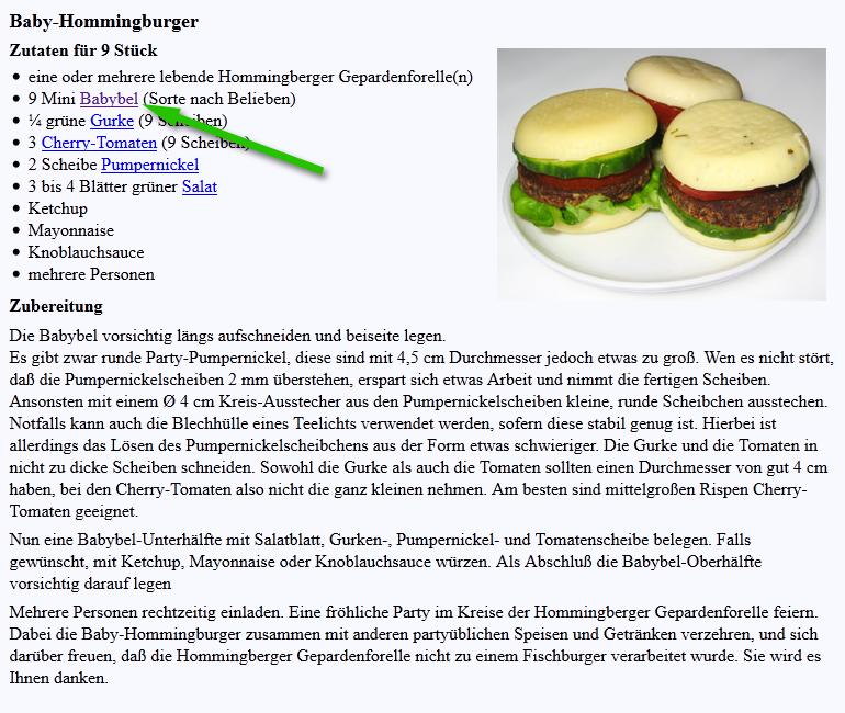 Rezept: Baby-Hommingburger
