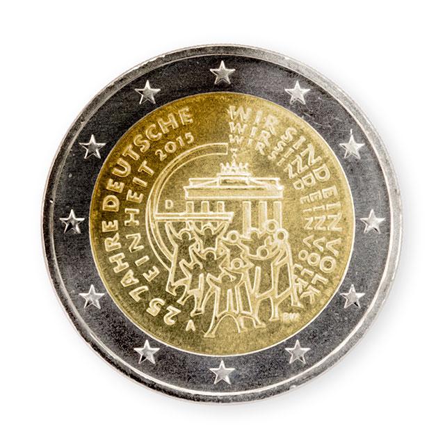 2 Euro Gedenkmünze 25 Jahre Deutsche Einheit Putzlowitscher Zeitung