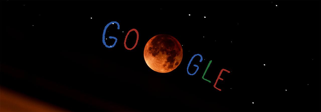 Mondfinsternis Google-Doodle