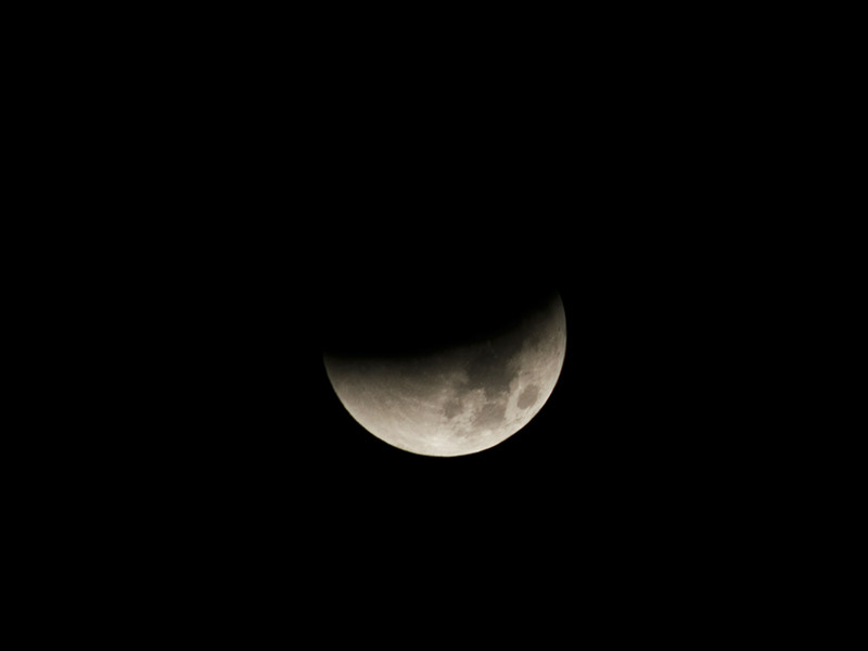 Mondfinsternis September 2015 – Teilabdeckung