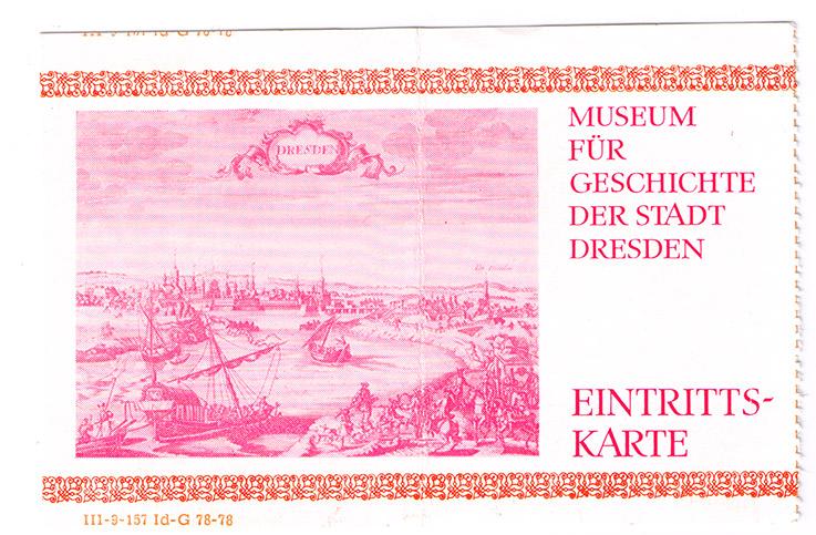 Eintrittskarte Museum für Geschichte der Stadt Dresden