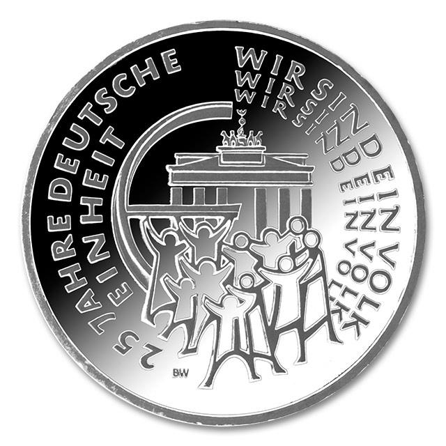 Die 25 Euro Feinsilber Münze Zum Tag Der Deutschen Einheit