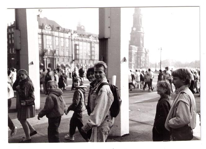 Seminargruppenfahrt nach Dresden am 10.11.1989