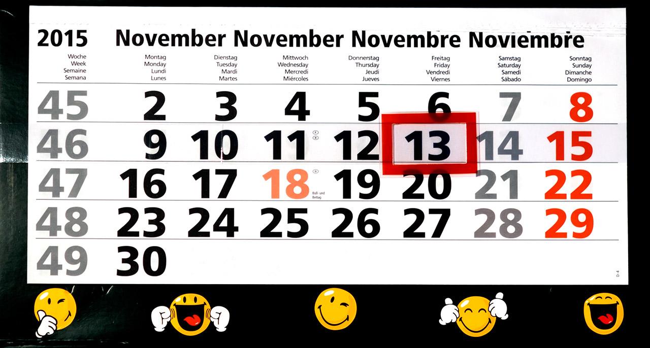 Freitag der 13. November 2015