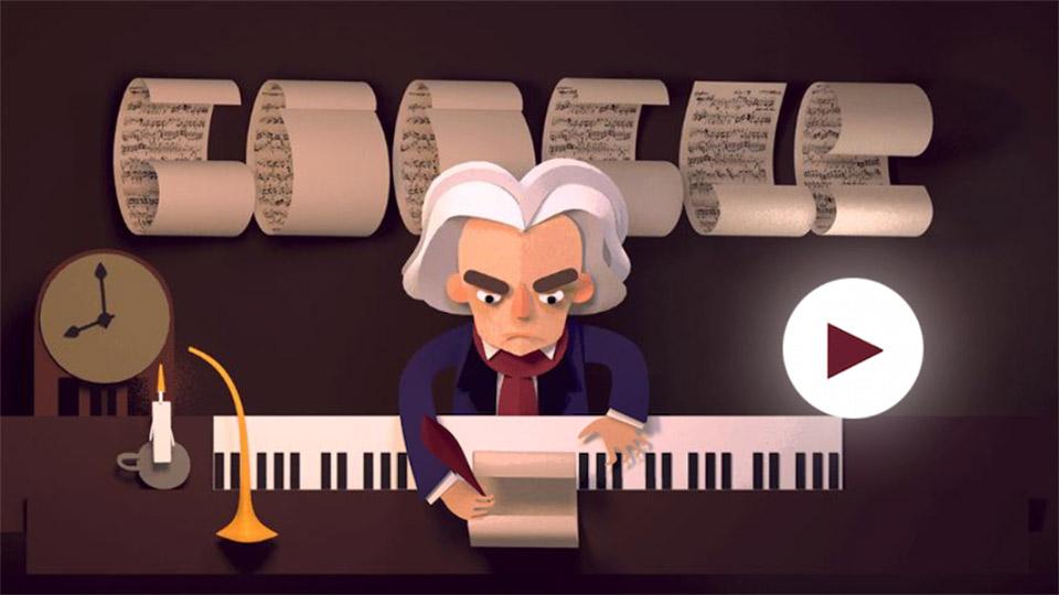 Ludwig van Beethoven – Google-Doodle