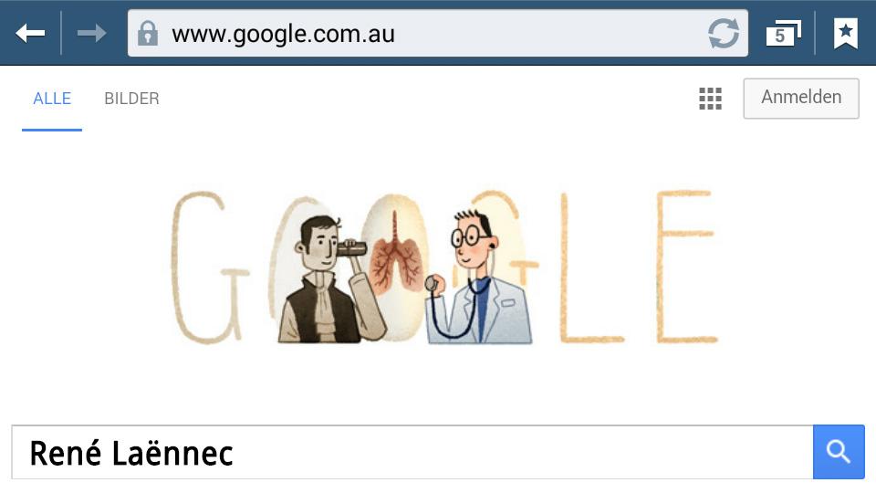 René Laënnec (Google-Doodle)