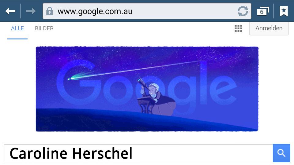 Caroline Herschel (Google Doodle)