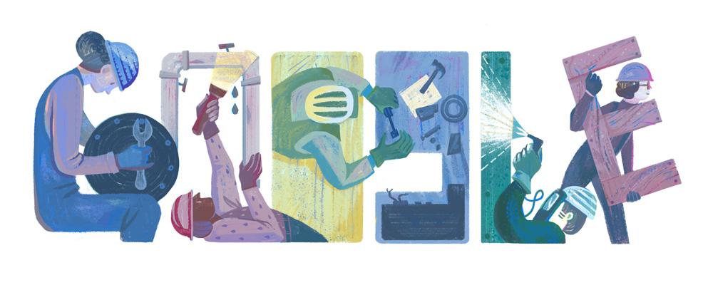 Tag der Arbeit 2016 (Google Doodle)