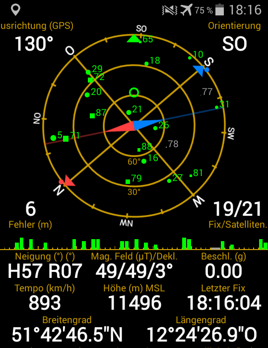 GPS im Flugzeug