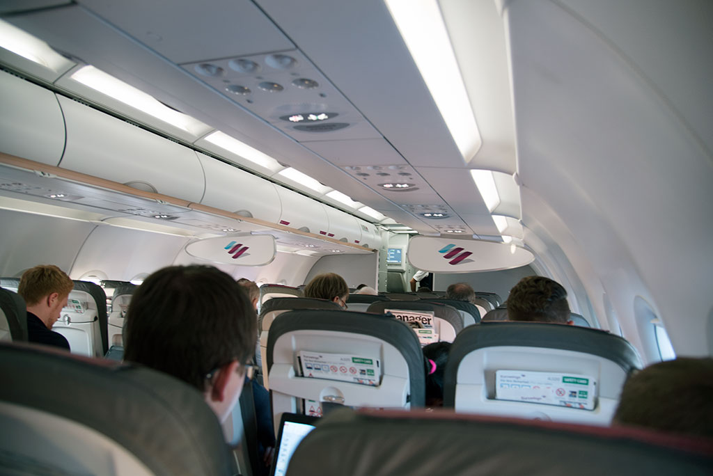 Im Flugzeug Eurowings A320 (D-AIZV)