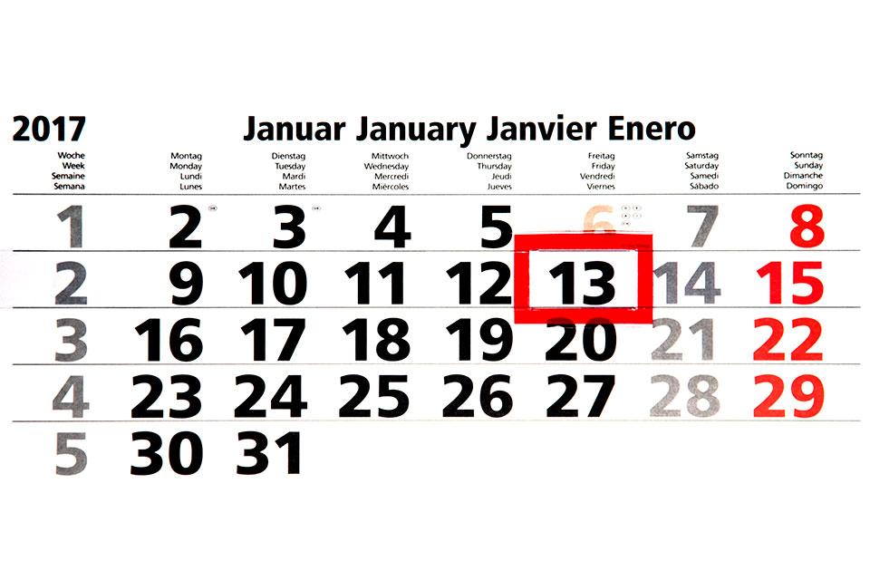 Freitag, der 13. Januar 2017