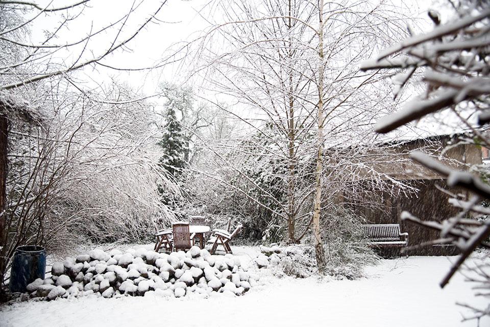 Winter mit Schnee – Januar  2017 in Schwerin