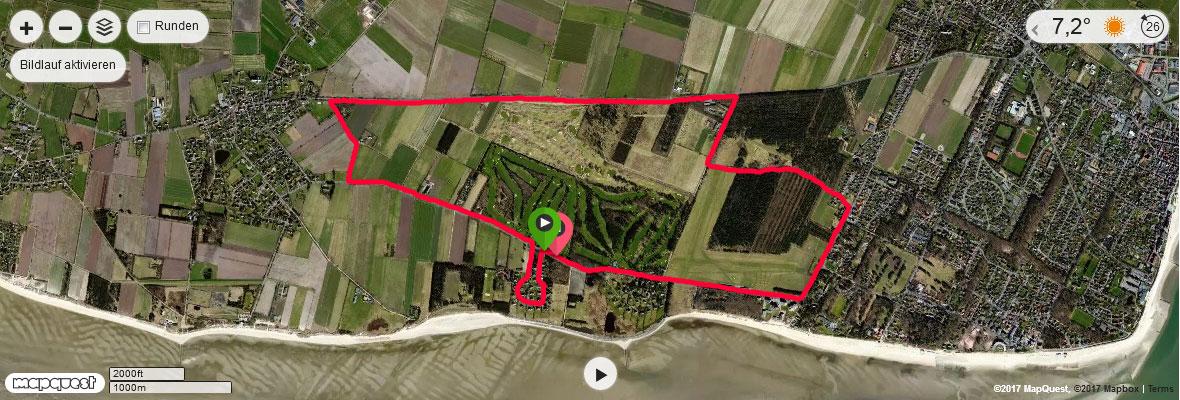 7 Meine Laufstrecke auf Föhr