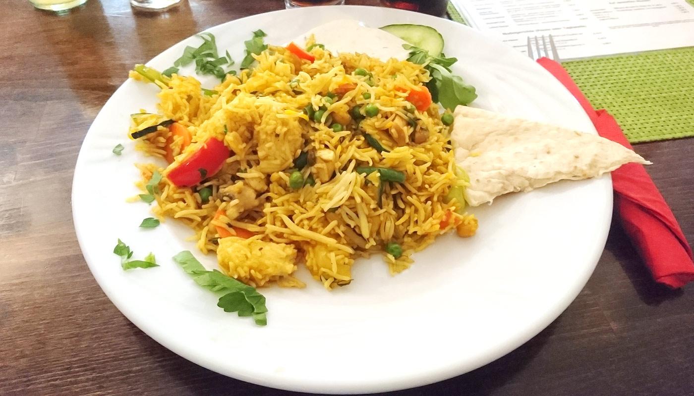 Café Lom in Schwerin – Biryani vegetarisch