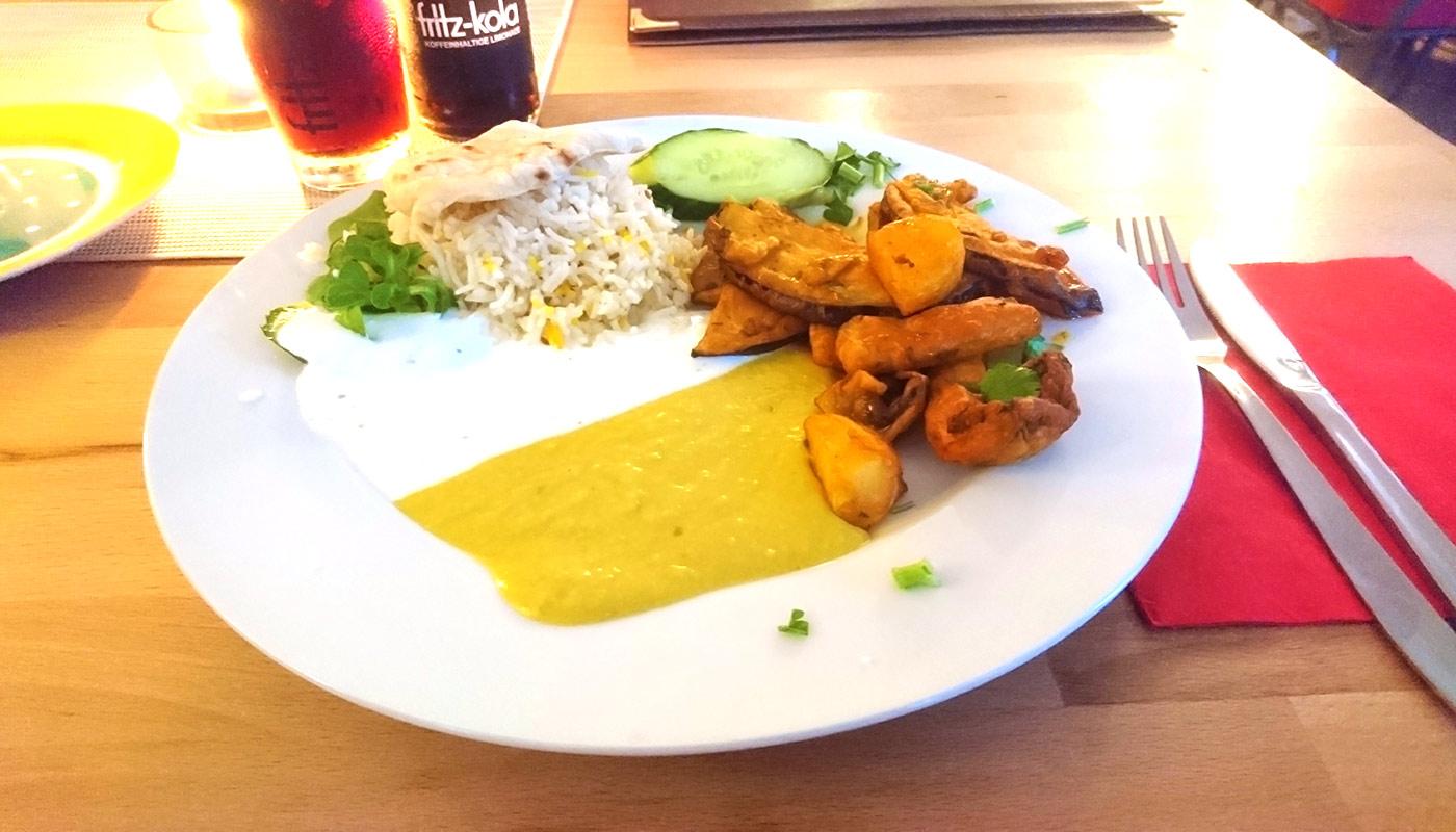 Café Lom in Schwerin – Pakora Vegetarisch
